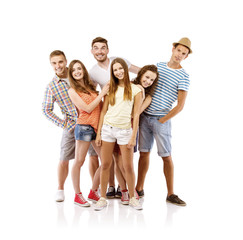 Group of young people posing
