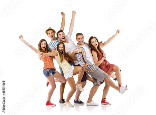 Group of happy students - 68954664