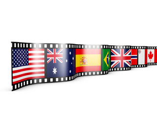 Film with  flags