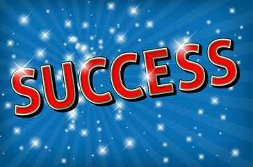 The word SUCCESS on glowing background