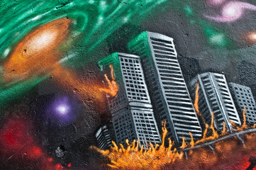 Urban Art - end of the world