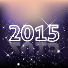 Elegant New Year 2015 background with stars and shines