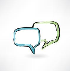 dialogue grunge icon