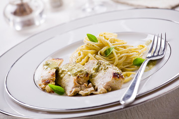 Pesto Chicken With Pasta