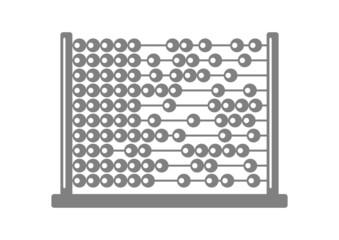 Grey abacus icon on white background
