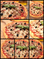 collage pizza