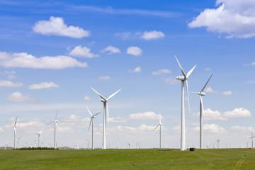 Environmental energy by wind turbines