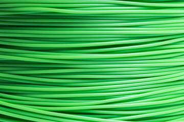 Filament für 3d Drucker in Hellgrün im detail