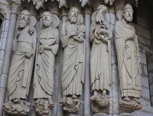シャルトル大聖堂の彫刻