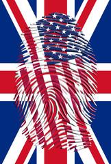 USA UK Finger Print