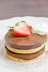 Chocolate pudding pancake