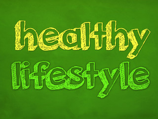 healthy lifestyle - design concept