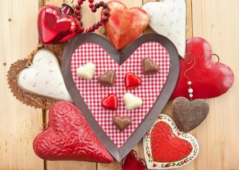 Schokoladen in Herzform