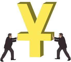 pressione valuta cinese