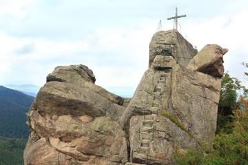 Lookout at peak of Oresnik in Czech Republic