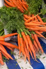 Delicious bright carrots