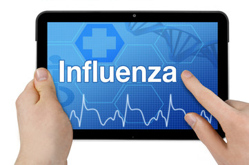 Tablet mit Interface und Influenza