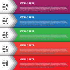 Infographic template for creative work