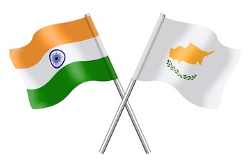 Flags : India and Cyprus