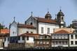 canvas print picture - Church in the banks of the Douro river, Porto, Portugal