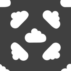 Cloud download application web icon.flat design. Seamless