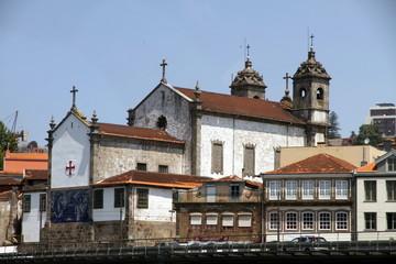 Church in the banks of the Douro river, Porto, Portugal