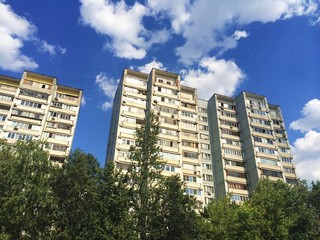Apartment houses in Moscow