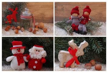 Frohe Weihnachten - Weihnachtscollage