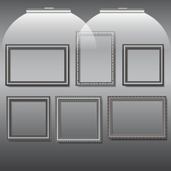 photo frames and pictures silver