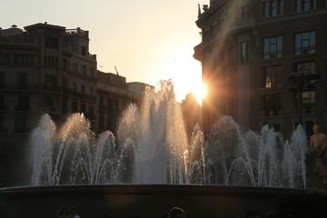 Fontana in Placa del Catalunya
