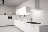 Fototapety Weiße neue Küche
