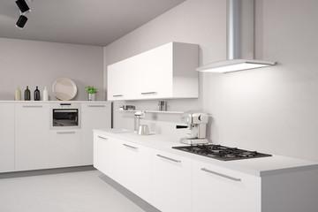 Weiße neue Küche