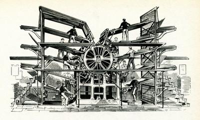 R. M. Hoe's Mammoth Rotary Printing Press