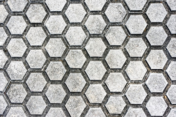 floor with paving stones and hexagon shapes