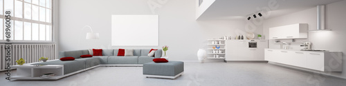 Interior Loft Apartment Panorama - 68960058