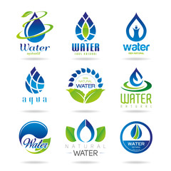 Water icon set - 3