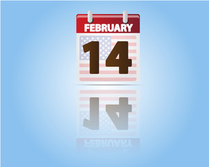 Calendar of 14 February,Valentines Day
