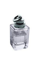 Perfume bottle on white.
