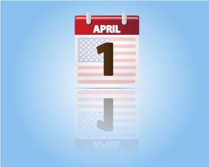 Calendar of 1 April