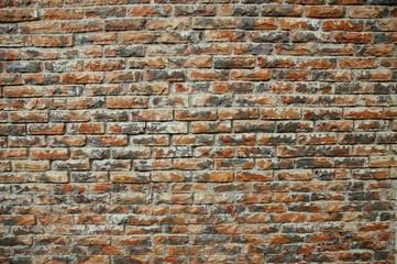 Weathered brick wall