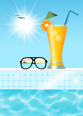 cocktail in the pool