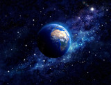 planet earth in outer space - 68961664