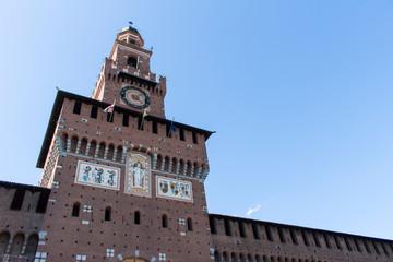 Sforzesco Castle,Castello Sforzeso in Milan,Italy.landmark.
