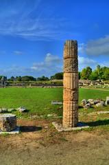 Ancient Greek columns and ruins
