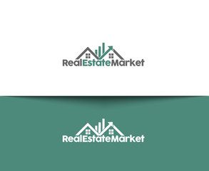 Real Estate Market Web Icons and Vector Logo