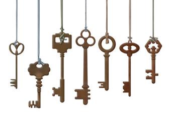 Набор из семи старых ключей