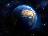planet earth in outer space - 68962410