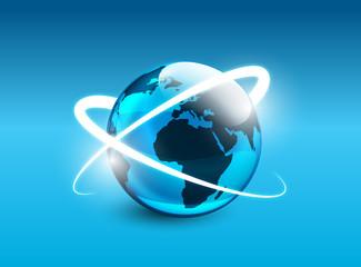mondo, orbita, sattelliti, internet, dati