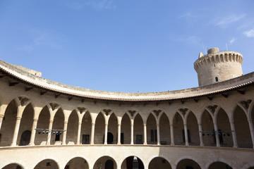Cloisters of Bellver castle in Palma de Mallorca, Balearic islan