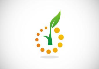 plant ecology botany vector logo